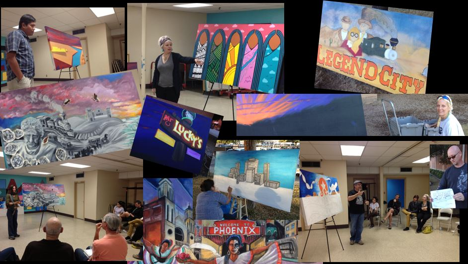 Collage of mural artists