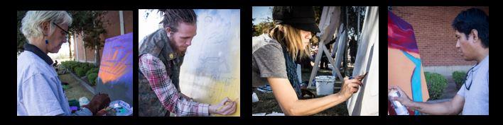 Mural artist photo strip 2