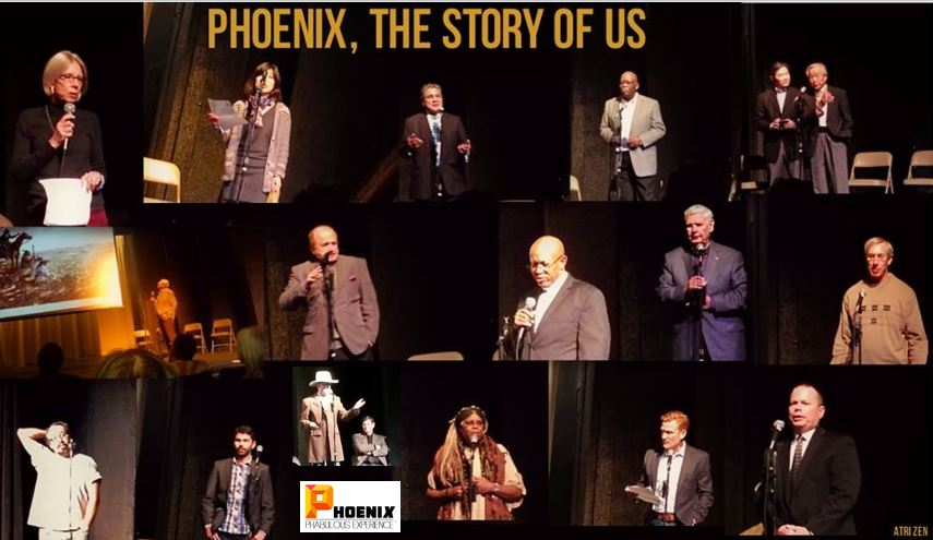 Phoenix Phabulous Storytellers collage from Dec. 11, 2013 evening with LOGO